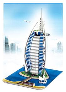 6602迪拜酒店 建筑立体拼图