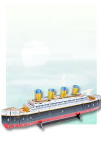 589系列  589-W 泰坦尼克号 帆船立体拼图