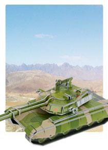 589系列 589-2B 新款坦克  军事立体拼图