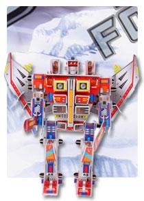 566系列 566-D 红蜘蛛 机器人立体拼图