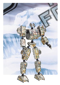 军神系列-2 机器人 3d立体拼图