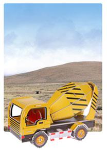 572系列 572-A 搅拌车  工程车立体拼图