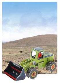 572系列 572-C 推土机  工程车立体拼图