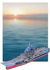 580系列  580-2A 辽宁号 帆船立体拼图