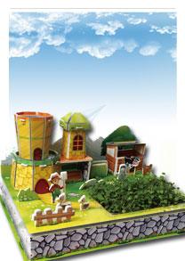 亲子乐园系列  开心牧场 可种植立体拼图