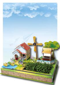 亲子乐园系列  风车农场 可种植立体拼图