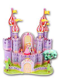689-H 卡通拼图 紫色梦幻城堡拼图
