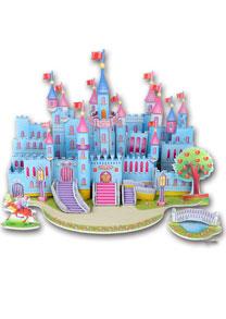 689-I 卡通拼图 蓝色城堡拼图