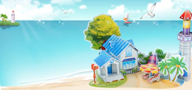 589系列 589-J  浪漫海滩 童话故事拼图