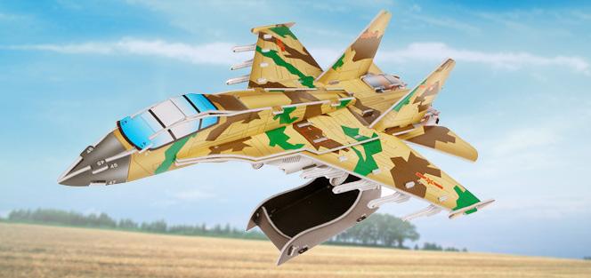 589系列 589-2C 新款飞机  军事立体拼图