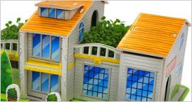 空中花             园种植立体拼图模型