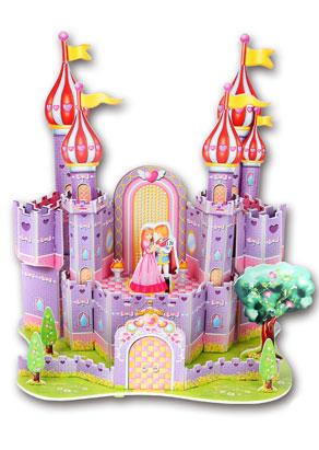 卡通拼图 紫色梦幻城堡拼图